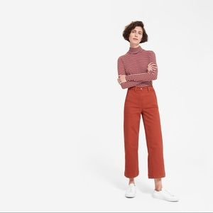 Everlane Wide Leg Crop in Faded Red